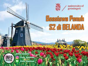 Beasiswa Penuh S2 di Universitas Groningen Belanda