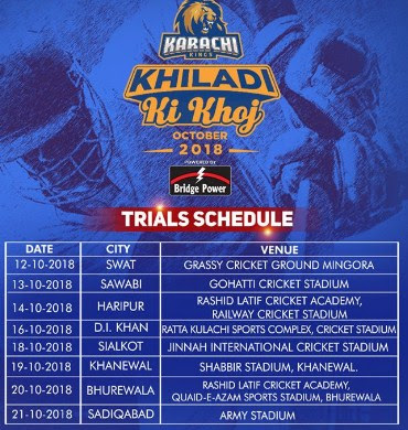 Karachi Kings' 'Khiladi Ki Khoj' to begin from Friday