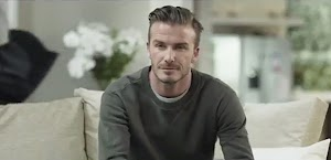 Everyday life of David Beckham in advertising sports TV channel