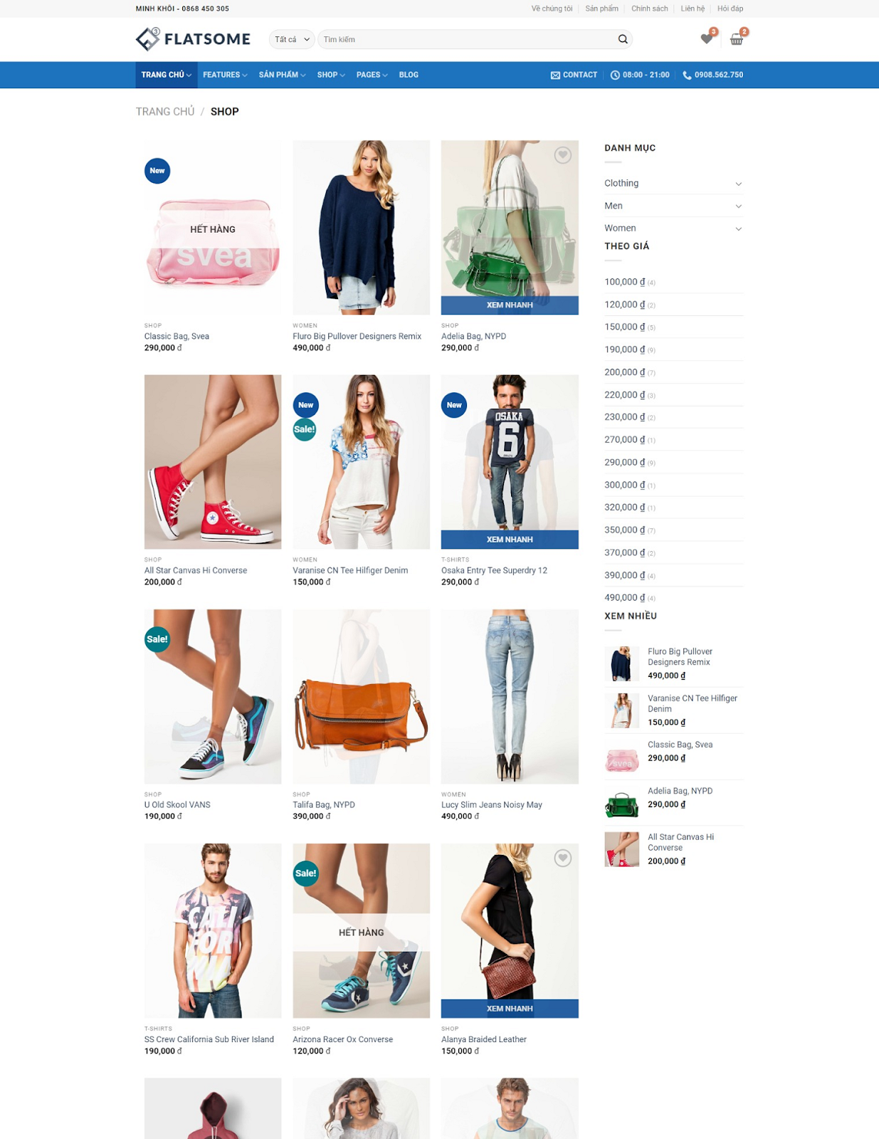 Template blogspot bán hàng cao cấp Flatsome - Giaodienblog.com