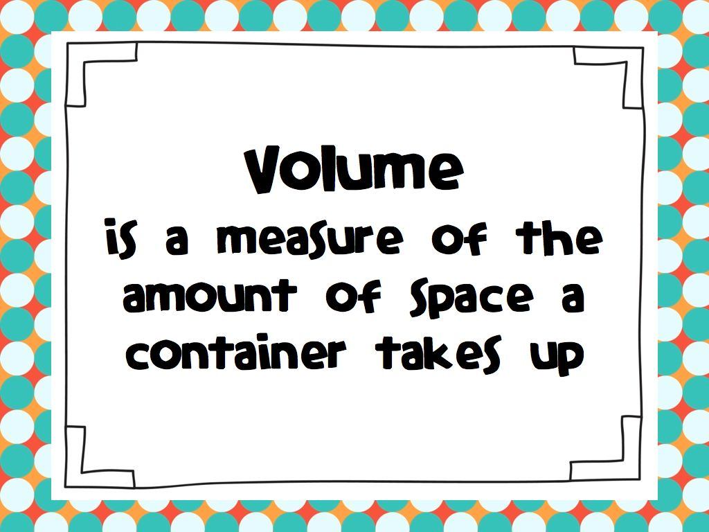Sweet Seconds Volume Measurement Capacity Time