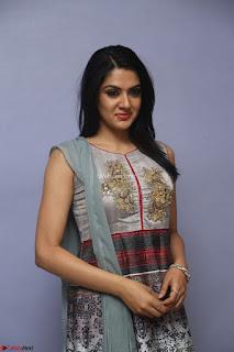 Sakshi Chaudhary Beautiful Embroidery Work Sleeveless Anarkali Dress
