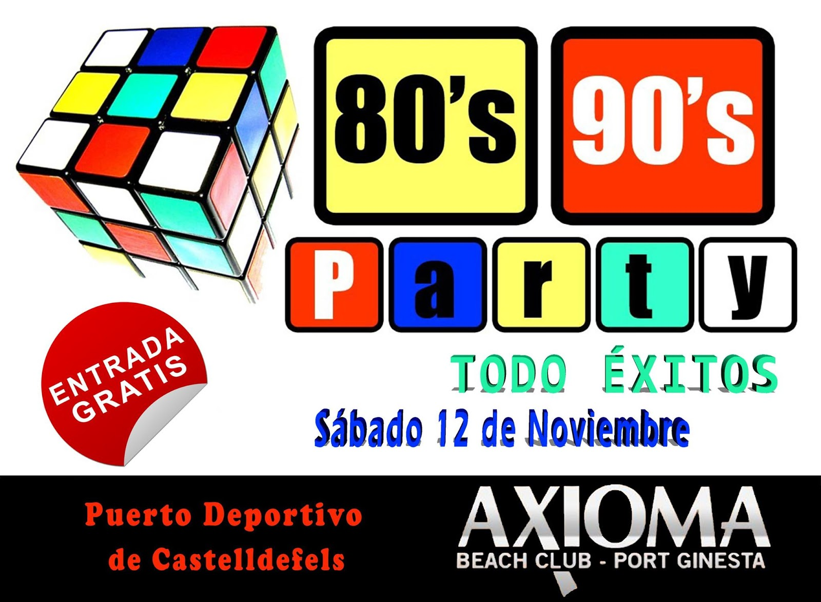 Flyer 80's 90's Party & Todo Éxitos