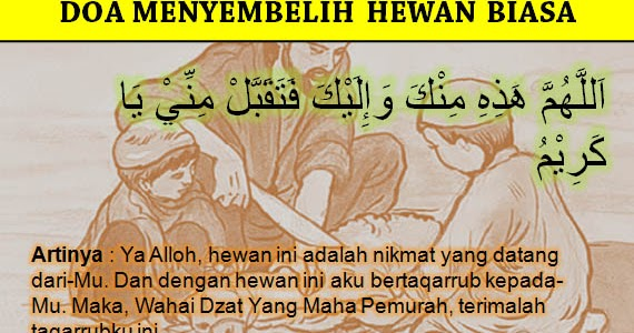 Doa Menyembelih Hewan Qurban, Aqiqah, dan Hewan Konsumsi