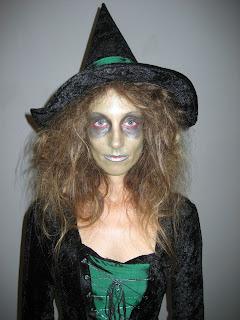 Maquillaje para disfraz bruja halloween diy