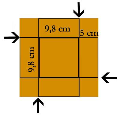Kartka w kształcie pudełka