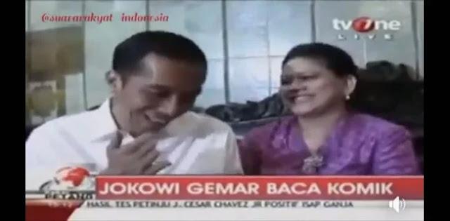 Viral, Video Jokowi Lebih Suka Baca Komik Daripada Baca Buku Politik