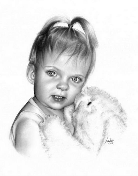 Dibujos a lápiz o carboncillo - Página 6 Dibujos-rostros-bebes-a-lapiz_5