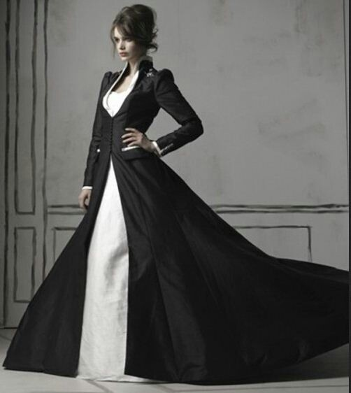 Formal Elegant Black Wedding Dress Sleeves | wedding bridal gown