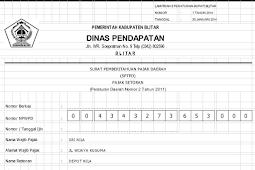 Download Apliksi SPTPD Pajak Mamin BOS Format Excel Cetak Otomatis