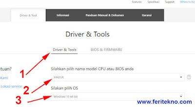 cara download driver touchpad laptop asus dari situs asus 3