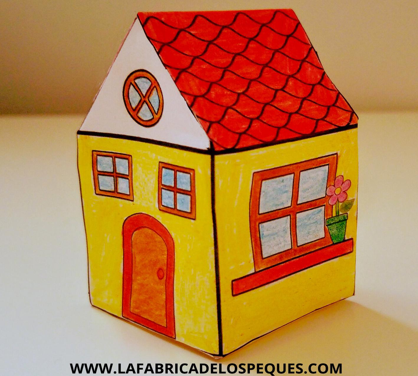 Manualidades Infantiles Casas Imprimibles La Fabrica De Los Peques - Casa-de-manualidades