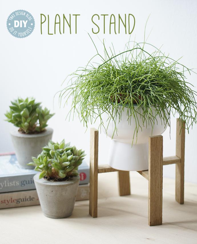 DIY Plant Stand aus Stäbchenparkettresten, Blumenständer