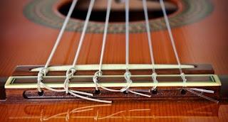 guitar strings tied