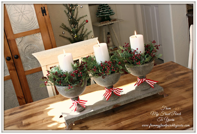 French Farmhouse- Christmas- Kitchen -table -centerpiece- French Country-From My Front Porch To Yours