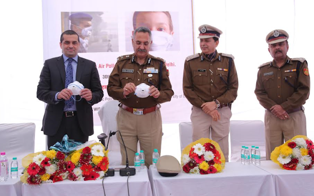 PHOTO  CAPTION From left to right :  Mr Apul Nayyar, Executive Director Capital First; Mr. Ajai Kashyap, Special Commissioner of Police : Traffic; Mr B K Singh Additional Commissioner of Police : Traffic; Mr Rupinder Kumar, Additional Commissioner of Police : Traffic