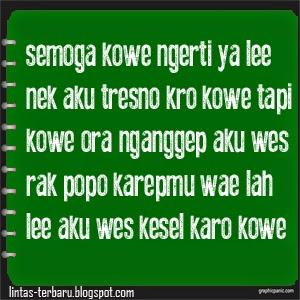 Gambar Kata Kata Galau Bahasa Jawa