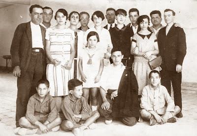 Cuadro escénico de la Cooperativa La Andresense en 1928