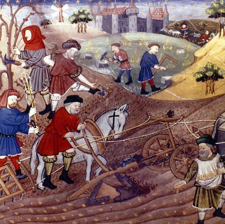 A dignidade dos camponeses se reflete em suas roupas e na distinção no trabalho.