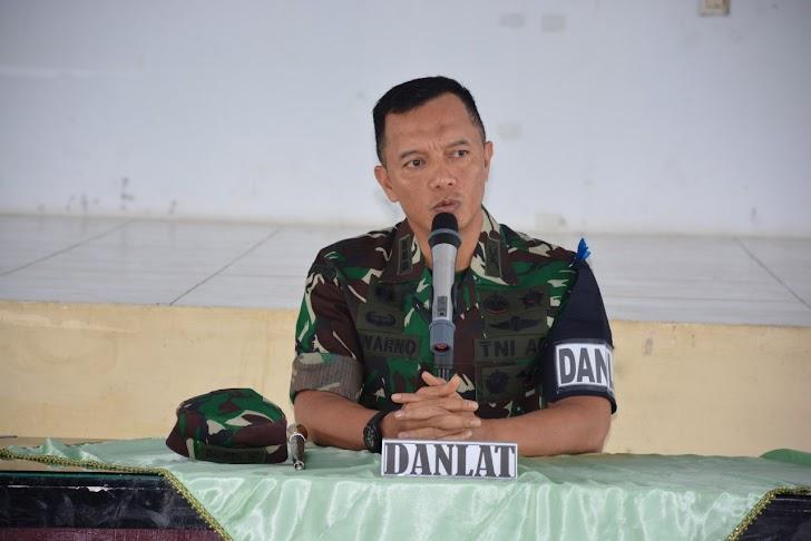Kolonel Inf Suwarno, S.A.P, Pimpin Briefing Latihan Posko-I Batalyon Infanteri 726/Tamalatea