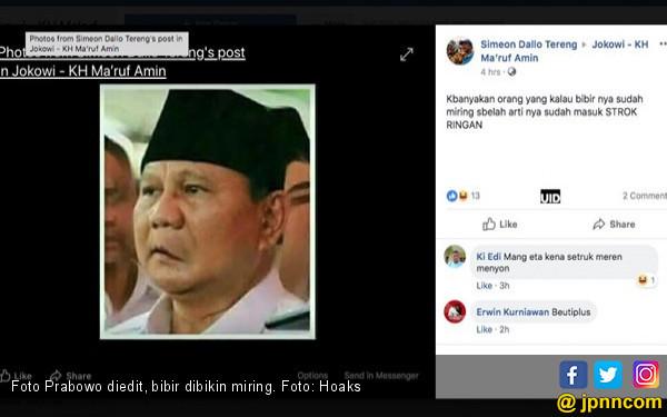 Bibir Prabowo Dibikin Miring, Ngawur Banget!