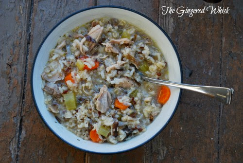 Chicken, Shitake and Wild Rice Soup  - The Gingered Whisk