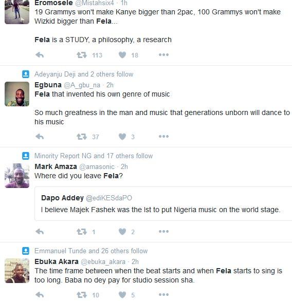 Wizkid Is Greater Than Fela? Nigerians Debate In Heated Arguement