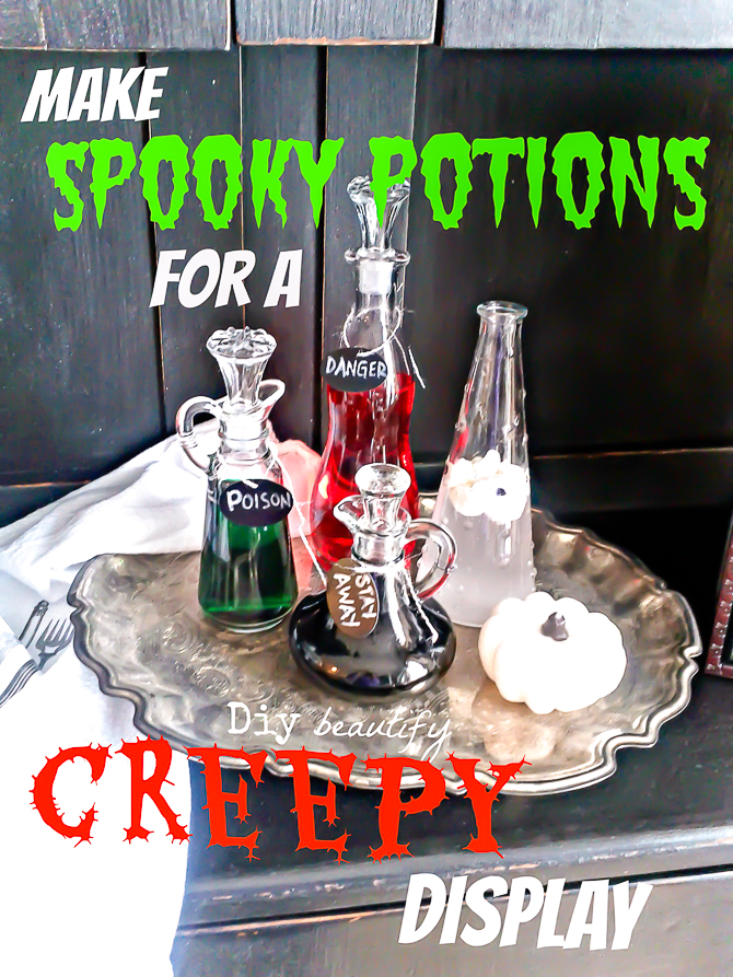 spooky potions diy