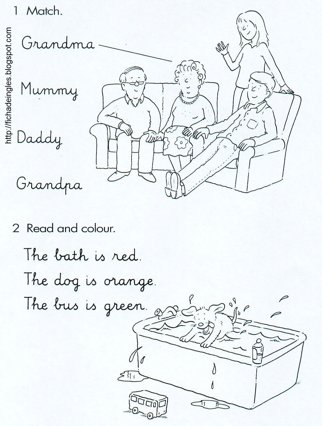Learning Is Fun Family Worksheets
