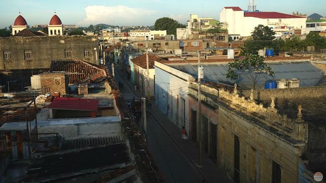 Alojamiento en Cuba - balcón de nuestro alojamiento en Holguín