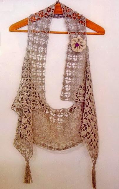 Bufanda Chaleco Crochet Patron