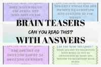 Brain Teasers with Answers: Can you read this?