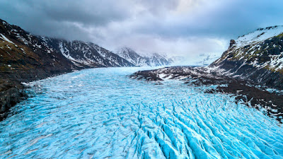 Skaftafell glacier in Iceland's Vatnajökull National Park