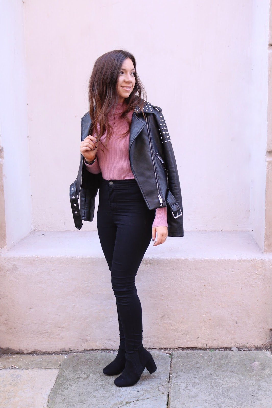 Fashion, Style, Outfits, Primark, Primark outfit, primark leather jacket, studded leather jacket, how to wear a leather jacket