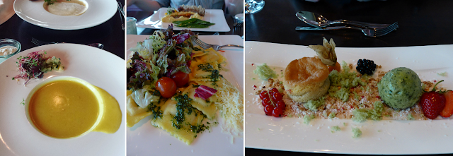 Vegan and vegetarian three-course menu at Fernsehturm, Berlin