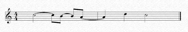 Ligadura de prolongación que une figuras situadas en diferente compás