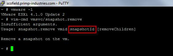 New Parameter in vim-cmd snapshot remove for ESX(i) 4 1 Update 2