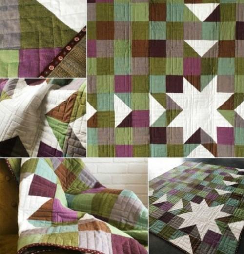 Sawtooth Sunburst Quilt - Free Pattern