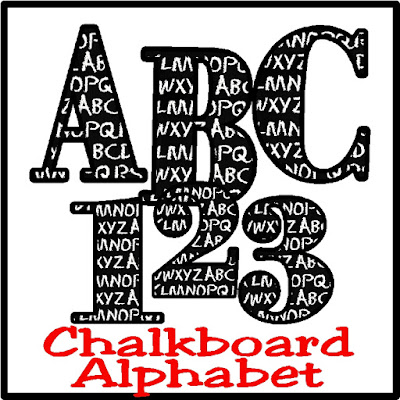 Scrapbook your child's school year with this fun Chalkboard alphabet with a black chalkboard and the ABCs written throughout.  Such a fun and free alphabet to download today. #blackboard #scrapbooking #backtoschool #alphabet #diypartymomblog
