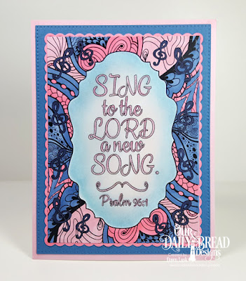 Our Daily Bread Designs Paper Collection: God's Blessings Coloring Pages, Custom Dies: Pierced Rectangles, Rectangles, Circle Scalloped Rectangles