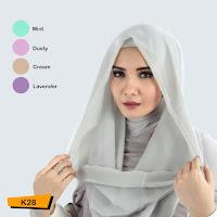 toko online jual Khimar saskia instan model hoodie