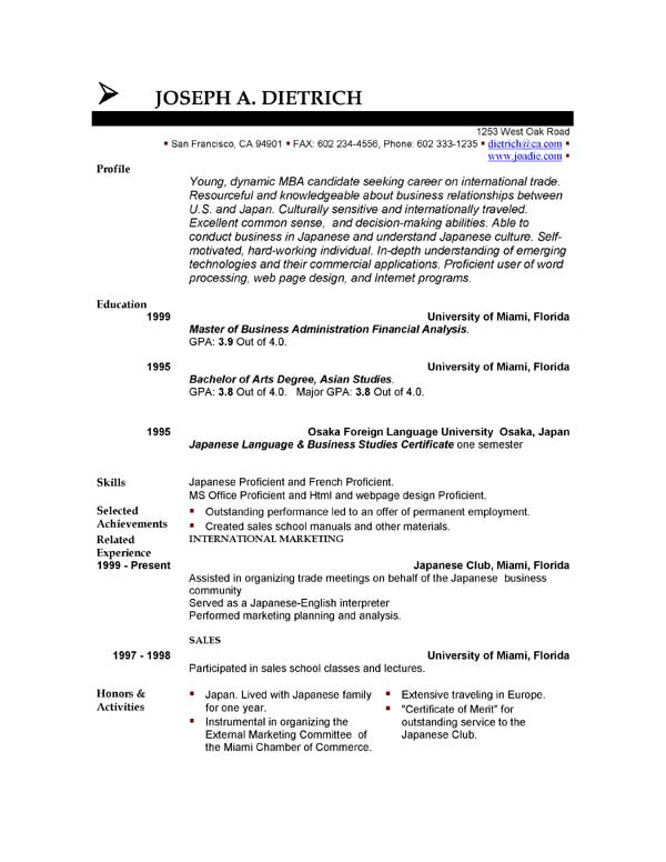 Free Resume Template Downloads  Dadakan