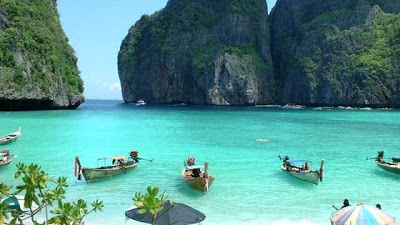 Next Most Beautiful Beach In The World Is Maya Thailand Famous For Its Natural Beauty Located On Island Of Phi