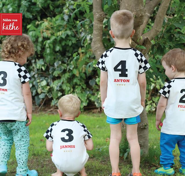 EM-Shirt für Kids (Raglan.kids von Leni pepunkt)