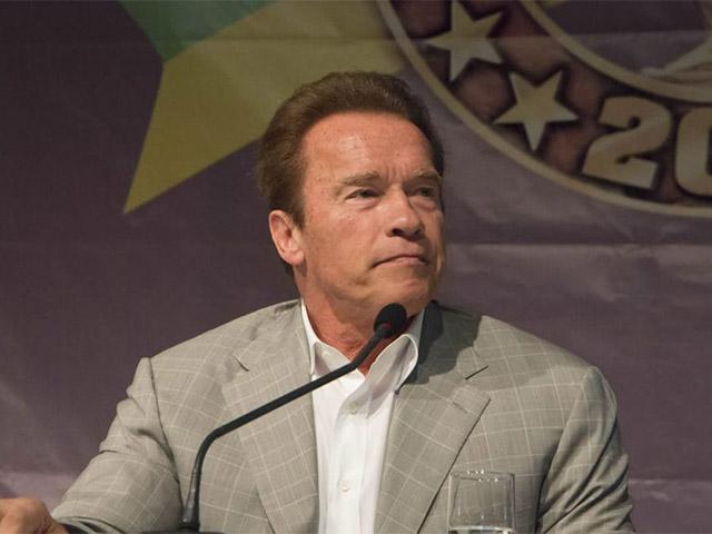 Arnold Schwarzenegger em coletiva de imprensa no Arnold Classic Brasil 2016. Foto: Reprodução