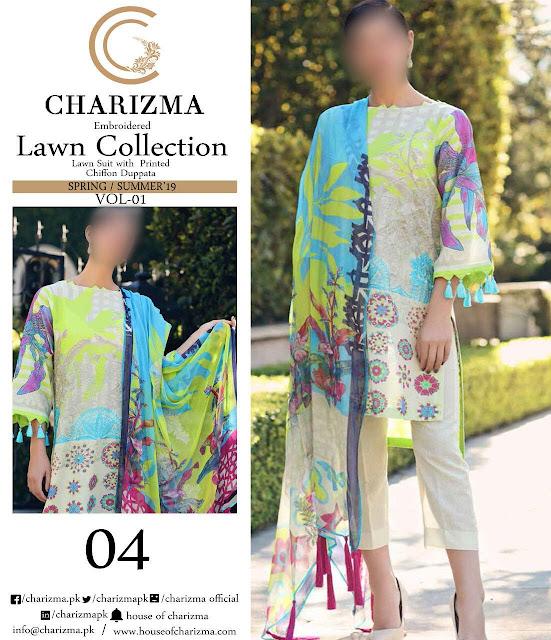 wholesale pakistani lawn suits Charizma Designer