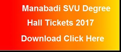 manabadi svu ug hall tickets 2017 download