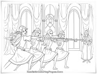 Barbie Training For Musketeers Coloring Pages