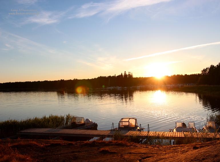 ilta-aurinko auringonlasku järnö