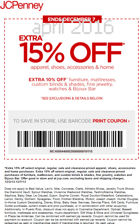 Jcpenney coupons june 2018 printable